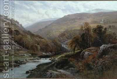 A Fisherman by a Highland Stream by Alfred Augustus I Glendenning - Reproduction Oil Painting