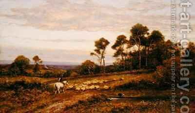 A Surrey Pasture by Arthur Augustus II Glendening - Reproduction Oil Painting