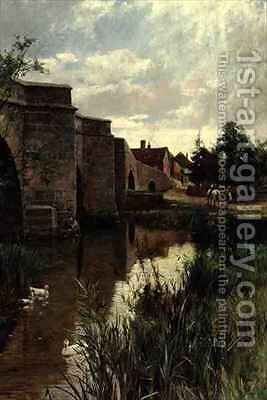 The Bridge by Arthur Augustus II Glendening - Reproduction Oil Painting