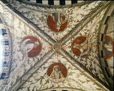 Vault depicting four prophets from the Loggia dAnnunciazione 2 by d'Allamagna Giusto - Reproduction Oil Painting