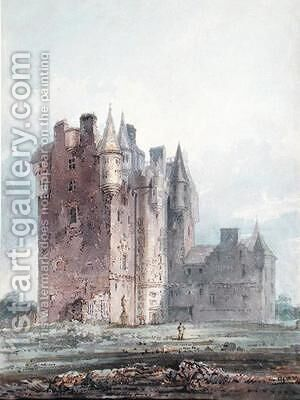 Glamis Castle by (after) Girtin, Thomas - Reproduction Oil Painting