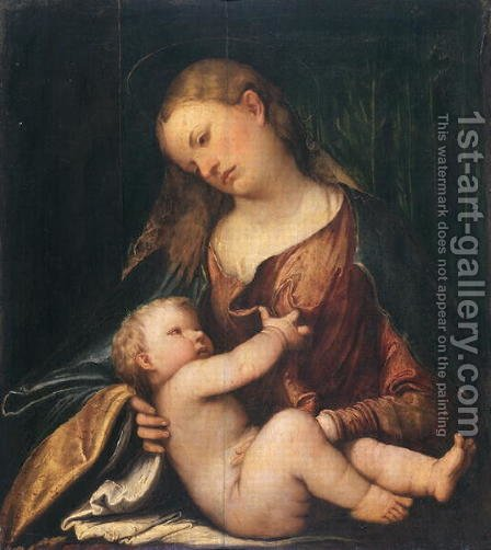 Madonna with Child by di Romana Girolamo - Reproduction Oil Painting