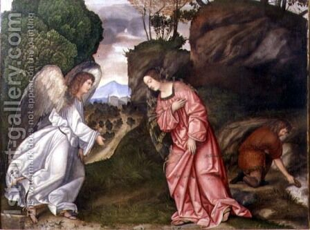 Hagar and the Angel by da Treviso II (Girolamo Pennacchi) Girolamo - Reproduction Oil Painting