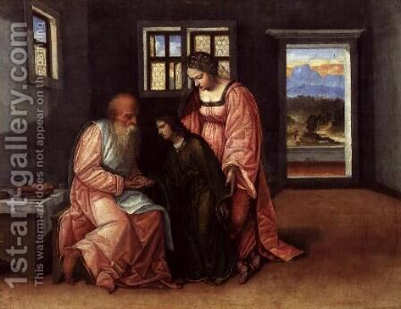 Isaac Blessing Jacob by da Treviso II (Girolamo Pennacchi) Girolamo - Reproduction Oil Painting