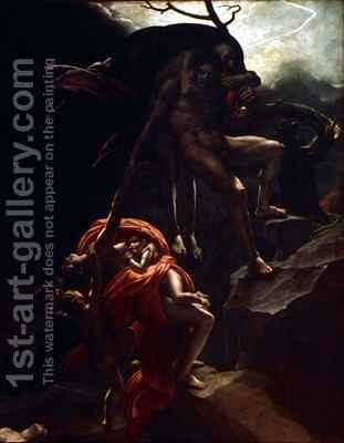 The Flood 2 by Anne-Louis Girodet de Roucy-Triosson - Reproduction Oil Painting