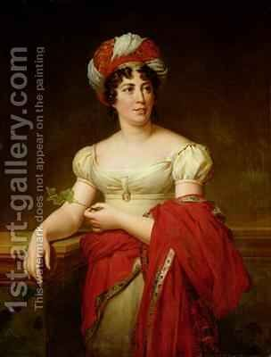 Portrait of Madame de Stael 1766-1817 by Anne-Louis Girodet de Roucy-Triosson - Reproduction Oil Painting
