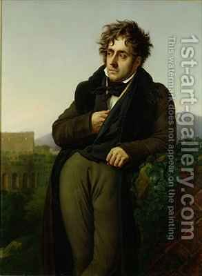 Portrait of Francois Rene 1768-1848 Vicomte de Chateaubriand by Anne-Louis Girodet de Roucy-Triosson - Reproduction Oil Painting