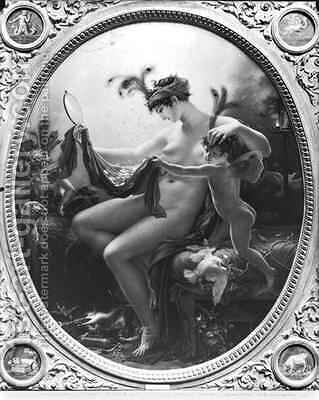 Portrait of Mademoiselle Lange as Danae by Anne-Louis Girodet de Roucy-Triosson - Reproduction Oil Painting