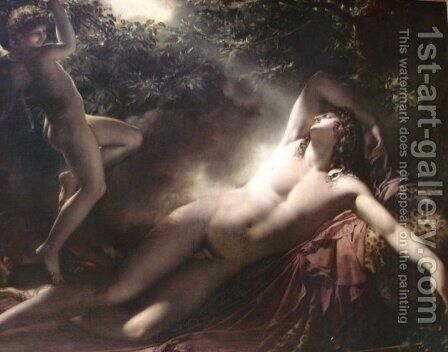 The Sleep of Endymion 2 by Anne-Louis Girodet de Roucy-Triosson - Reproduction Oil Painting