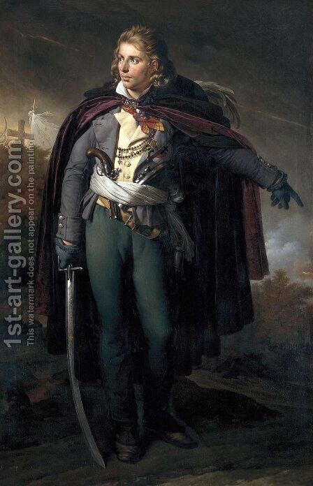 Jacques Cathelineau 1759-93 by Anne-Louis Girodet de Roucy-Triosson - Reproduction Oil Painting