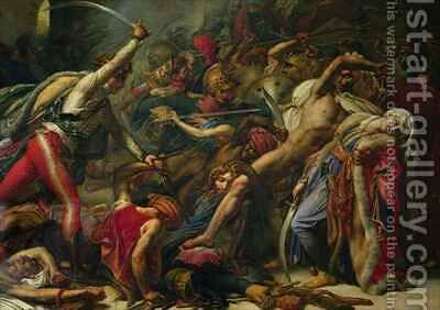 The Revolt at Cairo 2 by Anne-Louis Girodet de Roucy-Triosson - Reproduction Oil Painting