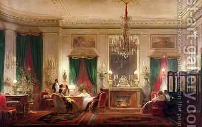 Salon of Princess Mathilde Bonaparte 1820-1904 Rue de Courcelles Paris by Charles Giraud - Reproduction Oil Painting