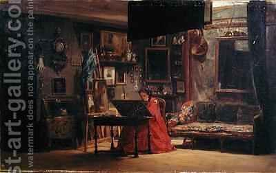 Princess Mathilde Bonaparte 1820-1904 in her Studio by Charles Giraud - Reproduction Oil Painting