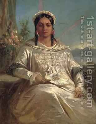 Queen Pomare IV 1827-77 of Tahiti by Charles Giraud - Reproduction Oil Painting