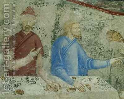 The Feast of Herod detail from the chapel of St Jean by Matteo Giovanetti - Reproduction Oil Painting
