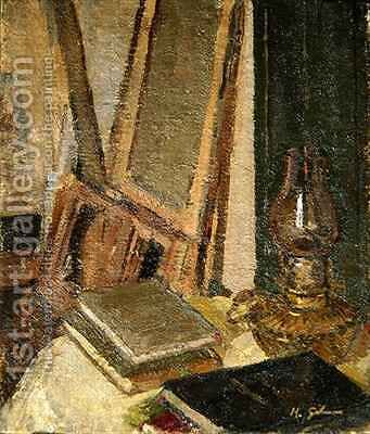 Studio Interior by Harold Gilman - Reproduction Oil Painting