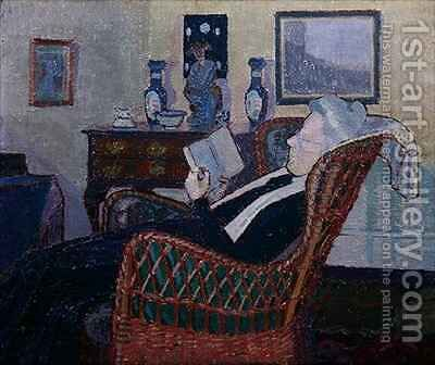 Interior with Artists Mother by Harold Gilman - Reproduction Oil Painting