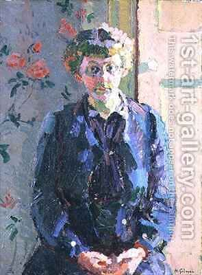Sylvia Gosse by Harold Gilman - Reproduction Oil Painting