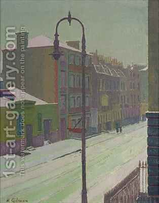 London Street in the Snow by Harold Gilman - Reproduction Oil Painting