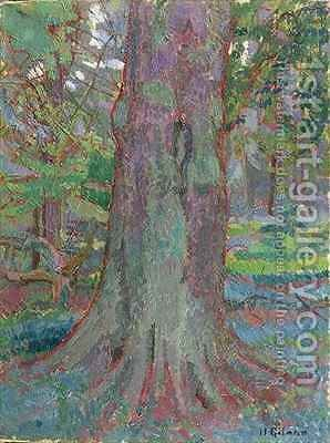 Tree Trunk by Harold Gilman - Reproduction Oil Painting