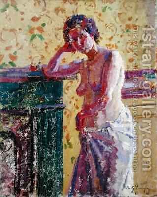 Interior with Nude by Harold Gilman - Reproduction Oil Painting