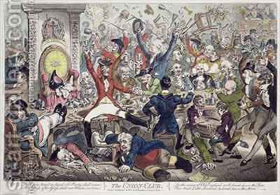 The Union Club by James Gillray - Reproduction Oil Painting