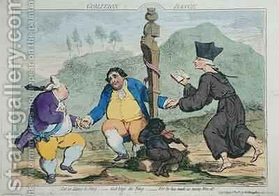The Coalition Dance by James Gillray - Reproduction Oil Painting