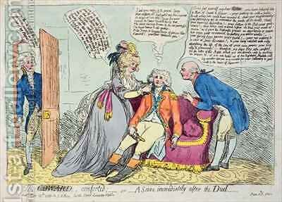The Coward Comforted by James Gillray - Reproduction Oil Painting