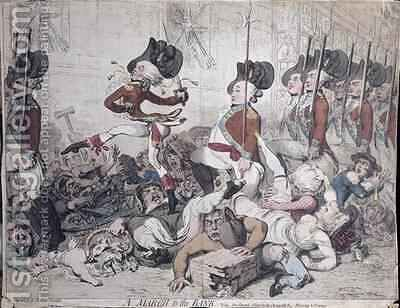 A March to the Bank by James Gillray - Reproduction Oil Painting