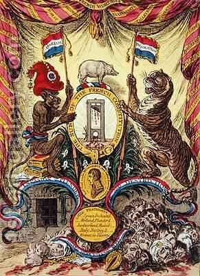The Arms of France by James Gillray - Reproduction Oil Painting