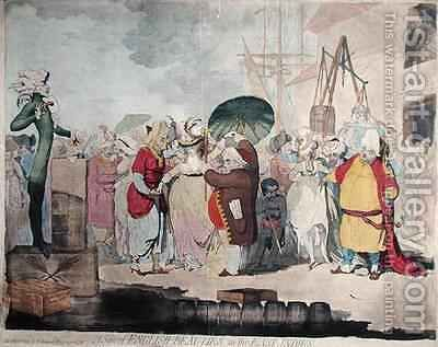A Sale of English Beauties in the East Indies by James Gillray - Reproduction Oil Painting
