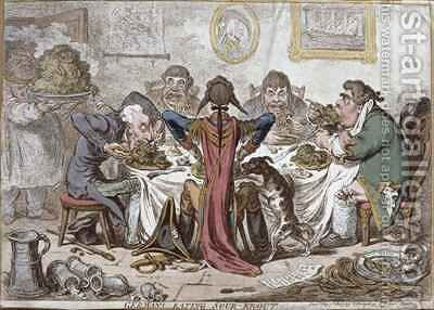 Germans Eating Sour Krout by James Gillray - Reproduction Oil Painting