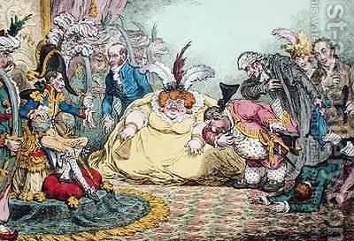 Introduction of Citizen Volpone and his Suite at Paris by James Gillray - Reproduction Oil Painting