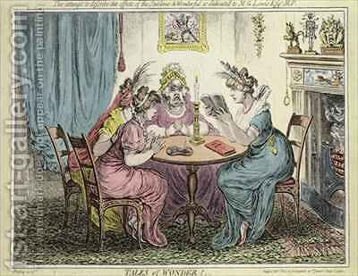 'Tales of Wonder  This attempt to describe the effects of the sublime and wonderful is dedicated to MG Lewis Esq by James Gillray - Reproduction Oil Painting