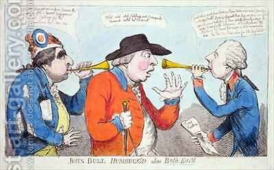 John Bull Humbuggd alias Both Eard by James Gillray - Reproduction Oil Painting