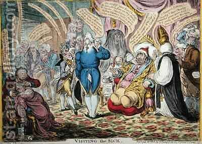 Visiting the Sick by James Gillray - Reproduction Oil Painting