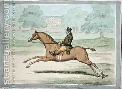Count Roupee in Hyde Park by James Gillray - Reproduction Oil Painting