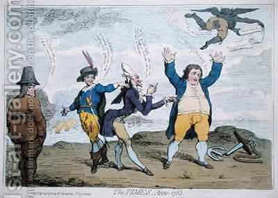 The Times Anno 1783 by James Gillray - Reproduction Oil Painting