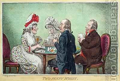 Two Penny Whist by James Gillray - Reproduction Oil Painting