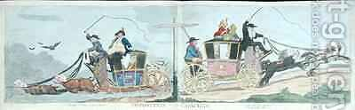 Opposition Coaches by James Gillray - Reproduction Oil Painting