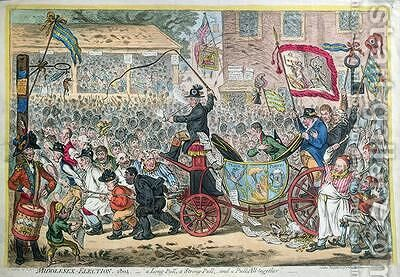 Middlesex Election by James Gillray - Reproduction Oil Painting