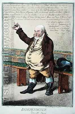 Independence or Tyrwhitt Jones by James Gillray - Reproduction Oil Painting