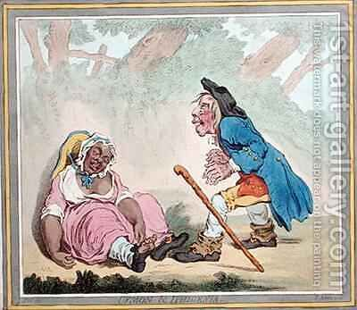 Cymon and Iphigenia by James Gillray - Reproduction Oil Painting