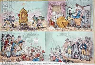 Patriotic Petitions on the Convention by James Gillray - Reproduction Oil Painting