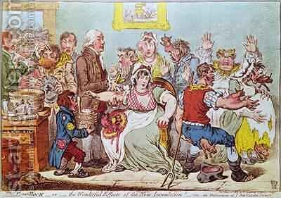 The Cow Pock or the Wonderful Effects of the New Inoculation by James Gillray - Reproduction Oil Painting