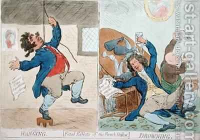 Hanging and Drowning or Fatal Effects of the French Defeat by James Gillray - Reproduction Oil Painting