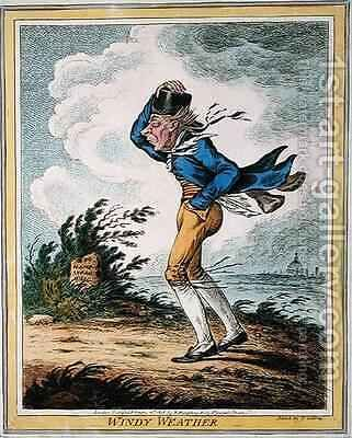 Windy Weather by James Gillray - Reproduction Oil Painting