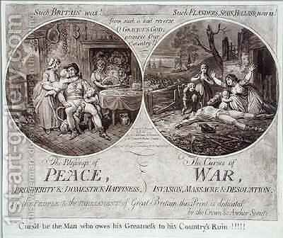 The Blessings of Peace and The Curses of War by James Gillray - Reproduction Oil Painting