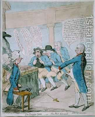 The Dagger Scene or The Plot Discoverd by James Gillray - Reproduction Oil Painting