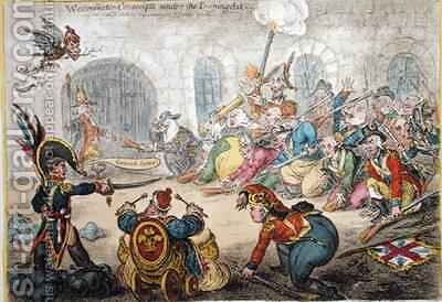 Westminster Conscripts under the Training Act by James Gillray - Reproduction Oil Painting
